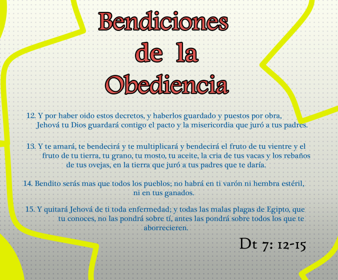 Bendiciones de la obediencia