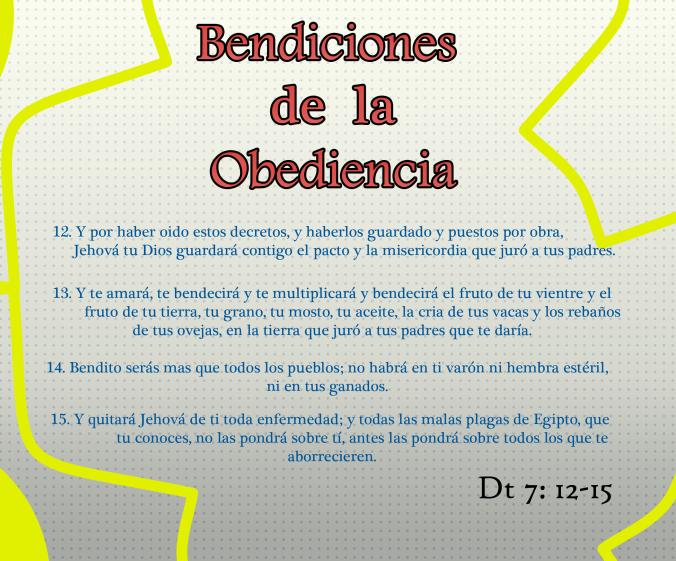 Bendiciones de la obediencia